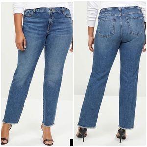 NWT LANE BRYANT Straight Jeans w/ Frayed Hem